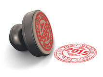 Stamp rubber with the text Royalty Free Stock Images