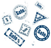 Stamp sale Royalty Free Stock Photos