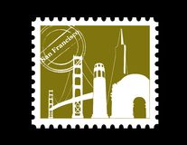 Stamp, San Francisco. Vector illustration Royalty Free Stock Photo