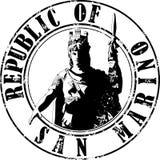 Stamp San Marino. Vector illustration of sketch stamp San Marino STATUE of LIBERTY and inscription inside royalty free illustration