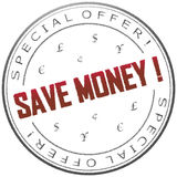 Stamp Save money Royalty Free Stock Image