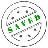 Stamp Saved Royalty Free Stock Photos