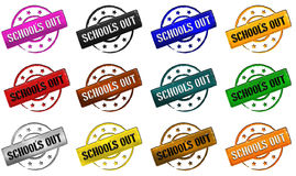 Stamp - school is out Royalty Free Stock Photo