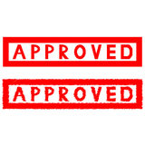 Stamp seal press notes approved. royalty free illustration