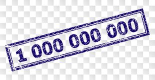 Grunge 1 000 000 000 Rectangle Stamp. 1 000 000 000 stamp seal watermark with rubber print style and double framed rectangle shape. Stamp is placed on a stock illustration