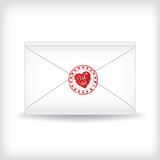 Stamp sealed love letter Stock Photography