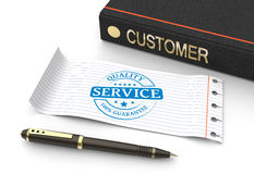 Stamp service concept Royalty Free Stock Photo