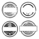 Stamp set. Abstract empty grunge rubber stamp set with space for text Stock Photography