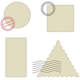 Stamp set Royalty Free Stock Photography