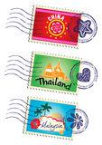 Stamp set Royalty Free Stock Photo