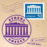 Stamp set Athens Stock Photos
