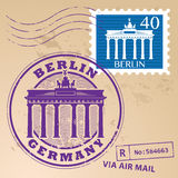 Stamp set Berlin Stock Images