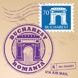Stamp set Bucharest Stock Photography