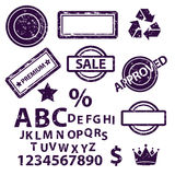 Stamp set collection. Royalty Free Stock Photo