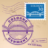 Stamp set Cologne Stock Images