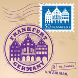 Stamp set Frankfurt Royalty Free Stock Image