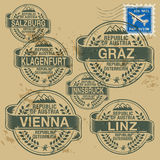 Stamp set Stock Image
