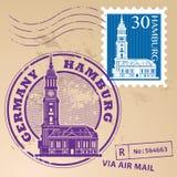 Stamp set Hamburg Royalty Free Stock Photography