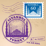 Stamp set Istanbul Royalty Free Stock Image