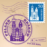 Stamp set Krakow Stock Photography