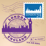 Stamp set London Stock Photos