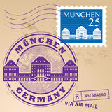 Stamp set Munchen Royalty Free Stock Image