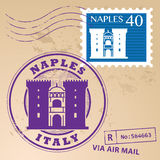 Stamp set Naples Royalty Free Stock Photos