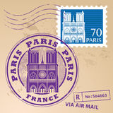 Stamp set Paris. Stamp set with the name of Paris, France written inside the stamp Royalty Free Stock Photography