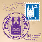 Stamp set Prague Stock Photography