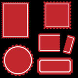 Stamp Set - Red Stock Images