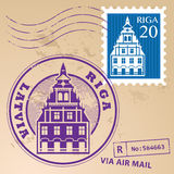 Stamp set Riga. Grunge rubber stamp set with words Riga, Latvia inside Stock Photography