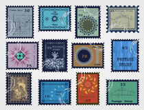 Stamp set for sale. Vector Royalty Free Stock Photos