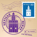 Stamp set Seville Royalty Free Stock Image