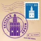 Stamp set Seville Royalty Free Stock Image