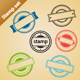 Stamp set. Stock Photos