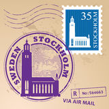 Stamp set Stockholm Royalty Free Stock Image