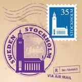 Stamp set Stockholm Royalty Free Stock Image