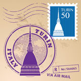 Stamp set Turin Stock Images