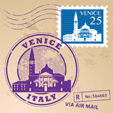 Stamp set Venice Stock Photography