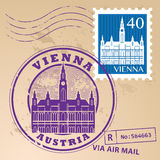 Stamp set Vienna Royalty Free Stock Photography