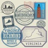 Stamp set Virginia, United States Stock Photos