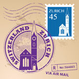 Stamp set Zurich Royalty Free Stock Images