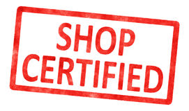 Stamp shop certified Stock Photography