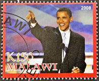Stamp shows Barack Obama Royalty Free Stock Images