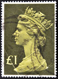 Stamp shows Queen Elizabeth II Royalty Free Stock Image