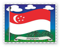 Stamp Singapore Stock Photography