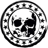 Stamp with skull Stock Photos