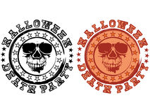 Stamp skull halloween Stock Image