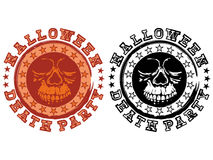 Stamp skull halloween Royalty Free Stock Photography