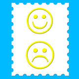 Stamp smileys Stock Image